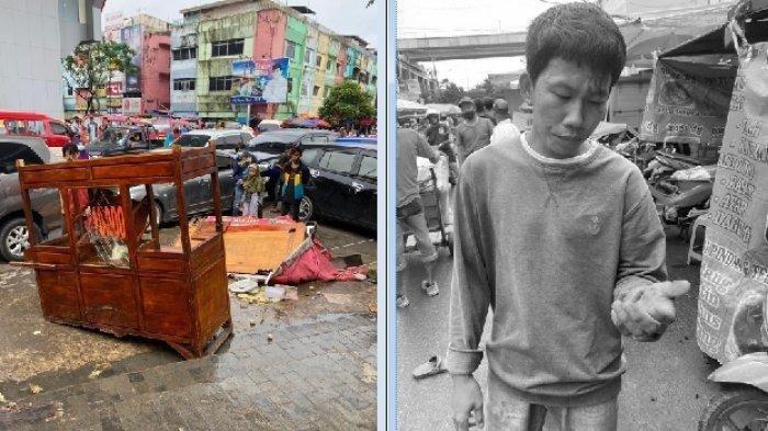 Tukar Uang Robek, Preman Keroyok Pedagang Bakso dan Hancurkan Gerobaknya