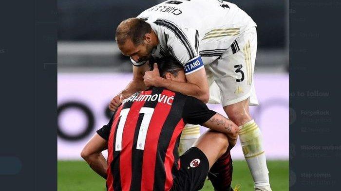 Harga Mahal AC Milan Menang Lawan Juventus: Zlatan Ibrahimovic Cedera