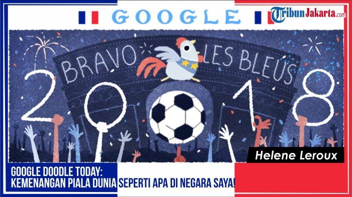 Google Doodle Today: Merayakan Kemenangan Piala Dunia 2018, Prancis !