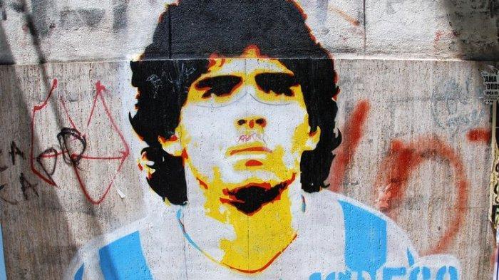 Grafiti Diego Maradona di Buenos Aires, Argentina. Gambar diambil pada 24 November 2011