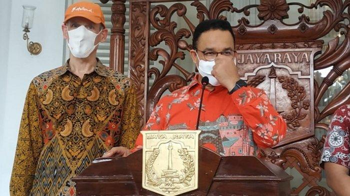 Gubernur DKI Jakarta Anies Baswedan saat ditemui di Balai Kota usai gowes bersama Dubes Denmark dan Belanda, Kamis (3/6/2021).