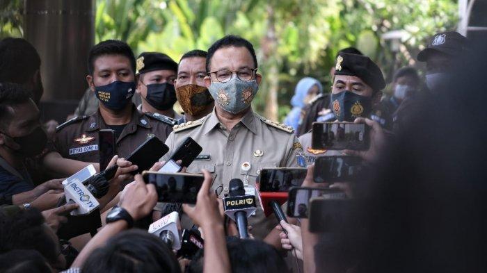 Gubernur DKI Jakarta Anies Baswedan penuhi panggilan penyidik KPK, Selasa (21/9/2021).