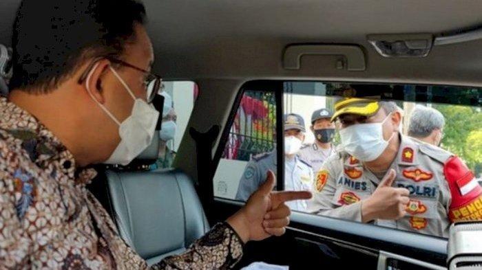 Sama-sama Ketemu 'Kembaran', Intip Momen Kocak Gubernur DKI Anies Baswedan dan Presiden Jokowi