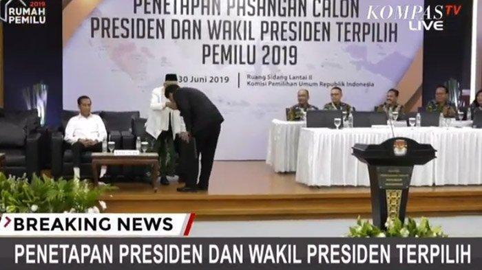 Anak Buah Prabowo Dapat Tepuk Tangan Usai Cium Tangan Ma'ruf Amin dan Mardani Apresiasi Jokowi