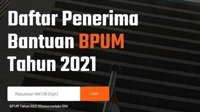 Halaman banpresbpum.id.