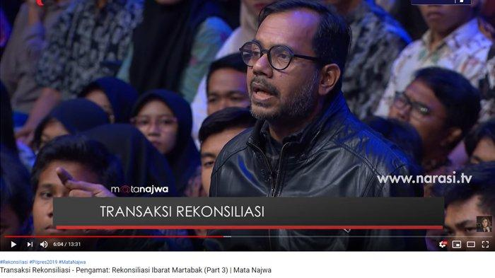 Sebut Rekonsiliasi Bukan Demi Rakyat, Haris Azhar Bahas Soal Pelanggaran HAM Prabowo & Pidato Jokowi