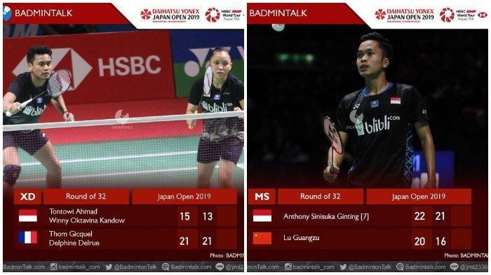 Link Live Streaming TVRI Japan Open 2019 Kamis 25 Juli, 11 Wakil Indonesia Tanding di Babak Kedua
