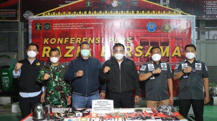 Razia Kamar Warga Binaan di Rutan Depok, Petugas Temukan Benda Terlarang