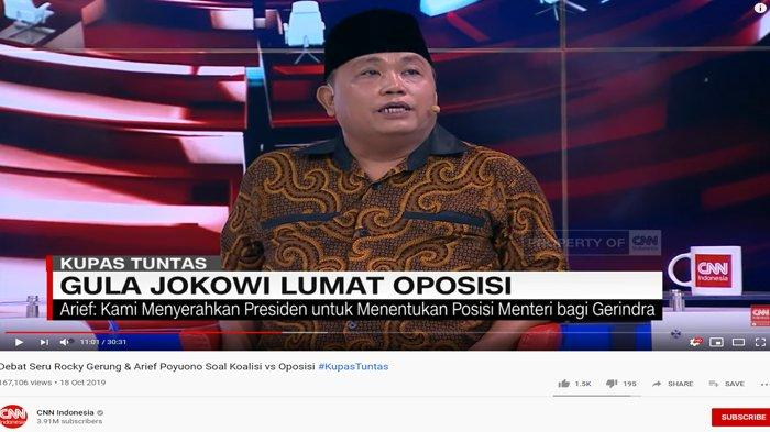 Arief Poyuono Tak Malu Minta Jatah 3 Menteri ke Jokowi, Rocky Gerung Bongkar Obrolan dengan Prabowo