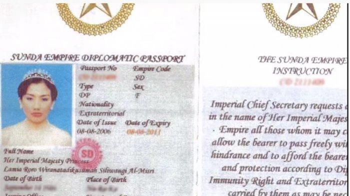 Penampakan Bentuk Paspor Sunda Democratic Empire, Pemerintah Malaysia Bingung saat Akan Mendeportasi