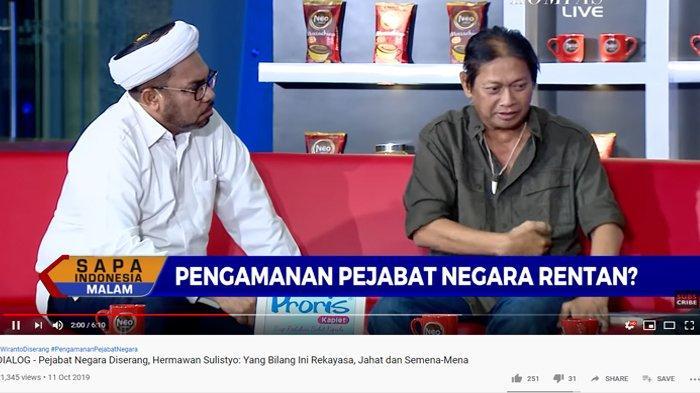Wiranto Ditangani 9 Dokter Ahli, Hermawan Sulistyo Soroti Luka Tusuk Sang Menteri: Naik Dikit Mati