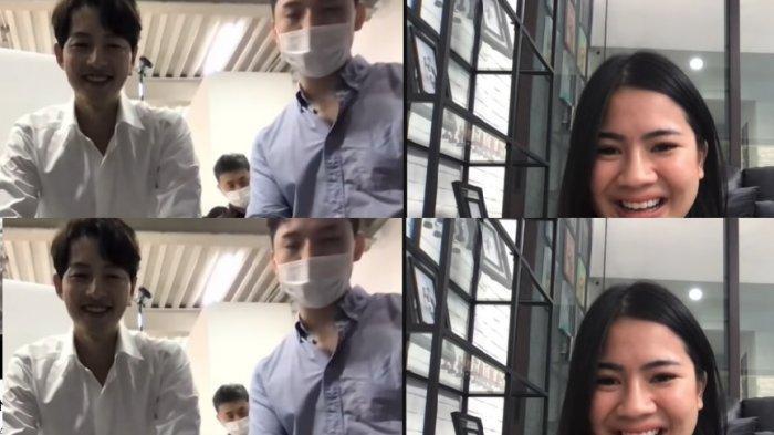 Histerisnya Felicya Angelista kesampaian video call bareng sang idola, Song Joong Ki.