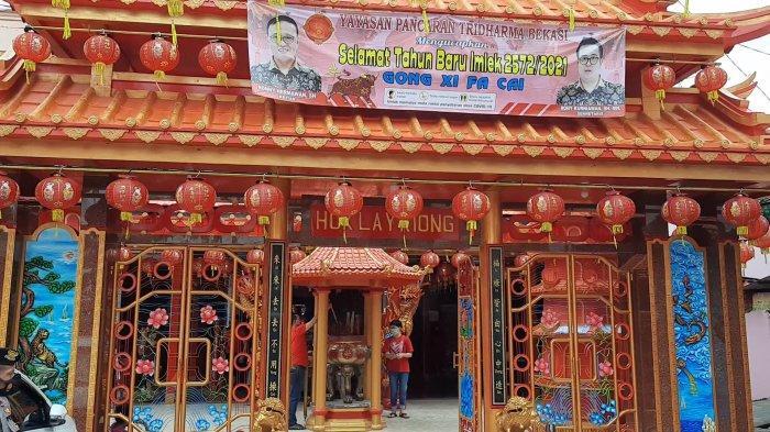 Kelengteng Hok Lay Kiong Bekasi saat peringatan Tahun Baru Imlek 2572, Jumat (12/2/2021).