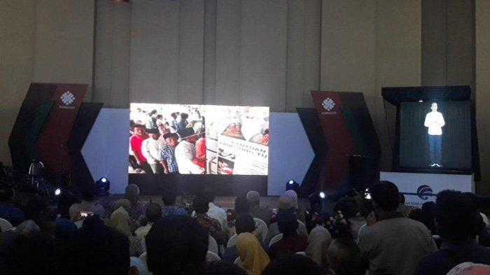 Hologram Jokowi Hadir dalam Pembukaan Job Fair di Bekasi