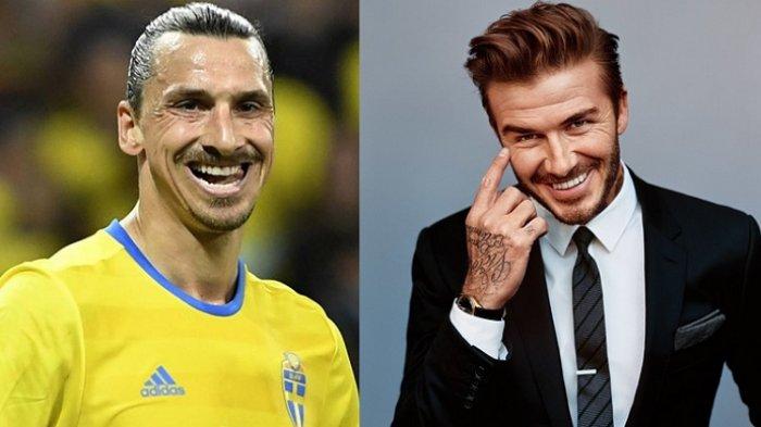 Inggris Menang, David Beckham Minta Zlatan Ibrahimovic Gunakan Jersey Inggris di Wembley