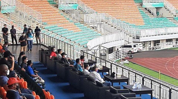 Menpora & Ketum PSSI Tinjau Prokes di Stadion Pakansari, Nonton Langsung Laga Arema Vs Bhayangkara