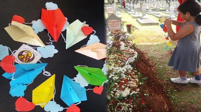 8 Pesawat Kertas di Makam BJ Habibie Ternyata Buatan Bocah Ini, Sang Ibu Ceritakan Kisah di Baliknya
