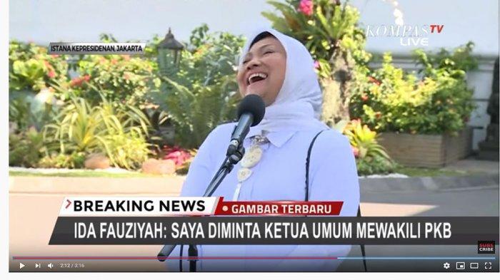 Temui Jokowi di Istana Kepresidenan, Ida Fauziyah Bereaksi Ini saat Disebut 'Diskusinya' Tak Asik