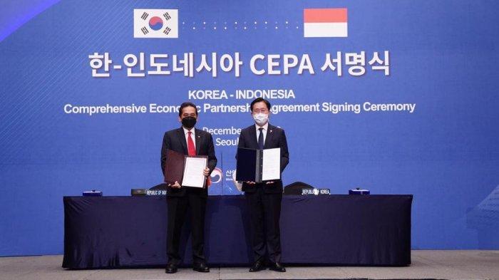 Indonesia-Korea Selatan Tandatangani Kerja Sama Dagang IK-CEPA