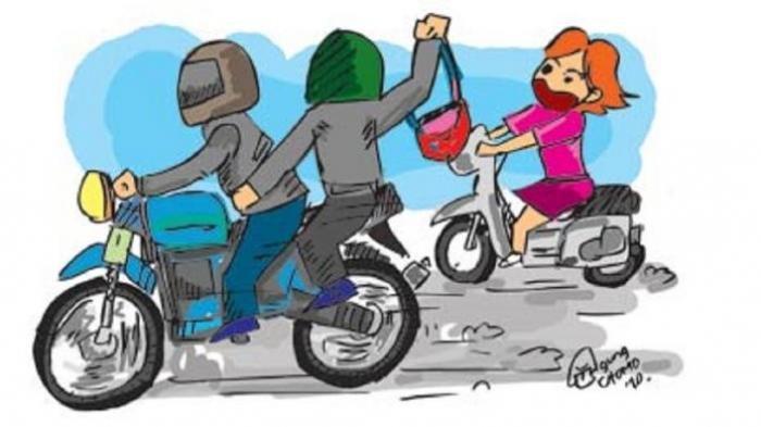 Demi Pertahankan Motornya dari Begal, Gadis Ini Sampai Babak Belur dan Mukanya Berdarah