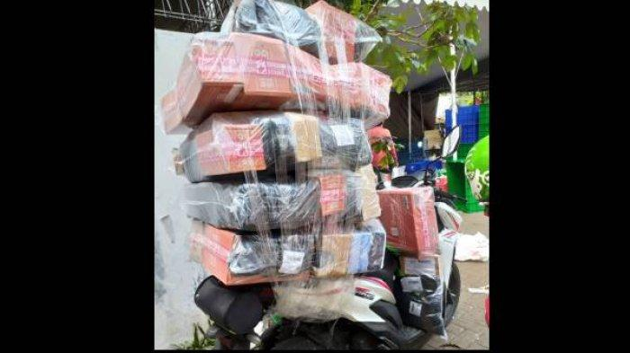Pilu Kurir Ratapi Sepeda Motor Hangus Terbakar Saat Antar Paket Pelanggan