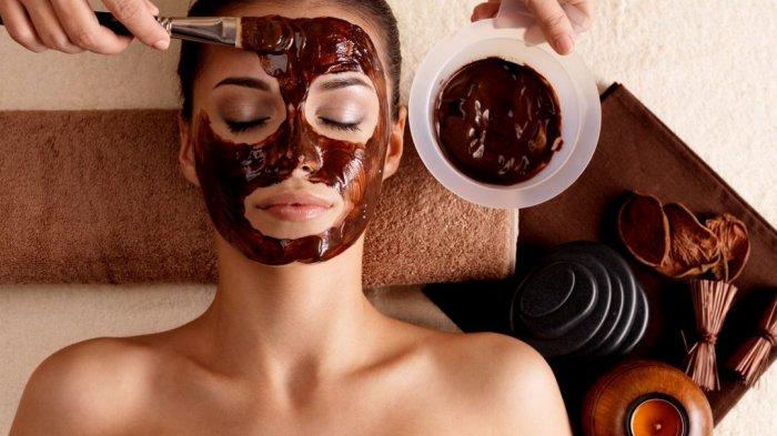 Ilustrasi masker cokelat