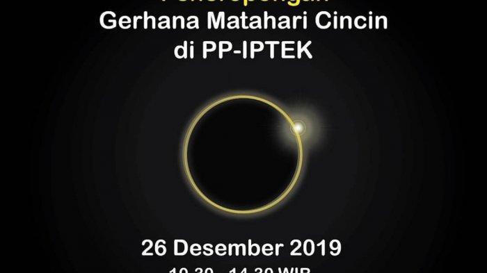 Saksikan Langsung Gerhana Matahari Cincin di PP IPTEK TMII, Datang Sebelum Pukul 12.00 WIB