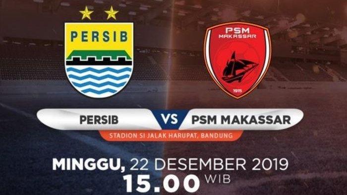 Persib Bandung Vs PSM Makassar Live di Indosiar, Ini Link Live Streaming, Kick Off Pukul 15.30 WIB