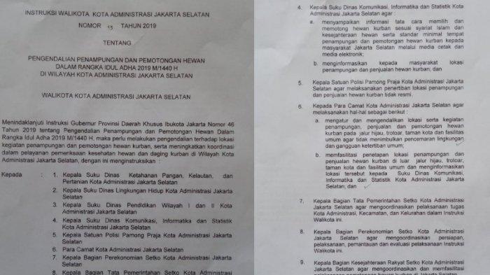 Anies Minta Pedagang Hewan Kurban di Trotoar Ditertibkan, Wali Kota Jaksel Minta Camat Fasilitasi