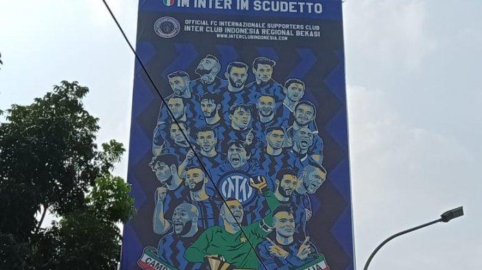 Ada Baliho Inter Milan Scudetto di Jalanan Kota Bekasi, Fans: Juara di Bulan yang Berkah