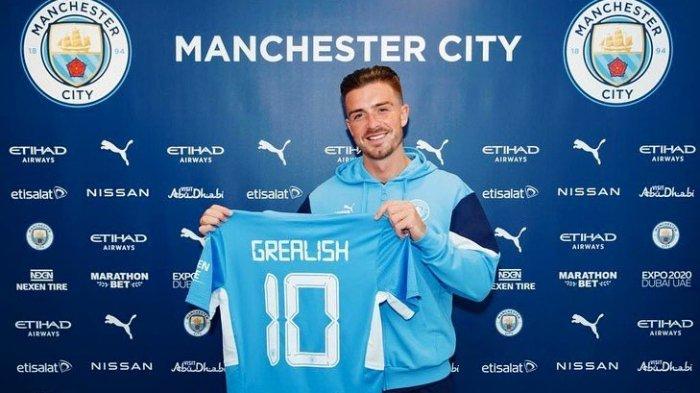 Jack Grealish Resmi Berseragam Manchester City: Biaya Transfer Rp 1,9 T