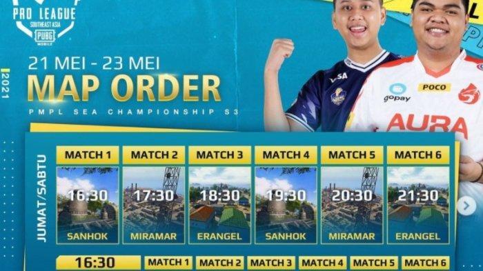 Jadwal PUBG Mobile Pro League PMPL SEA Season 3 2021, Mampukah Bigetron RA Pertahankan Juara?