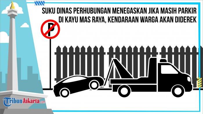 Contoh Pemprov DKI Jakarta, Sanksi Derek Denda Kendaraan Parkir Sembarangan Diterapkan di Bekasi