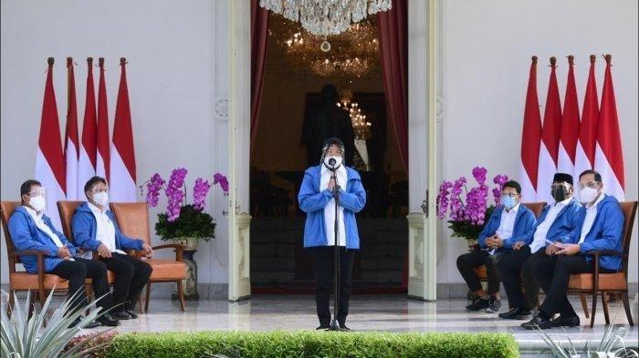 Terungkap, Harga Jaket Biru yang Dipakai 6 Menteri Baru Jokowi: Anti Air, Bisa Digunakan Olahraga