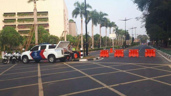 ILUSTASI Jalan Asia Afrika, Jakarta Pusat, Rabu (29/8/2018).