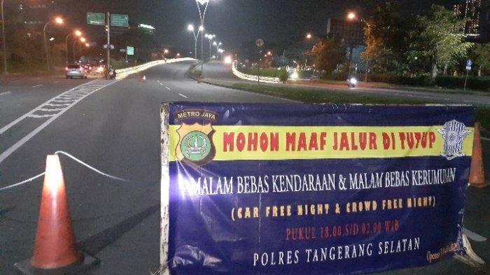 Suasana Malam Pergantian Tahun Baru 2021 di Tangerang Selatan Tanpa Euforia