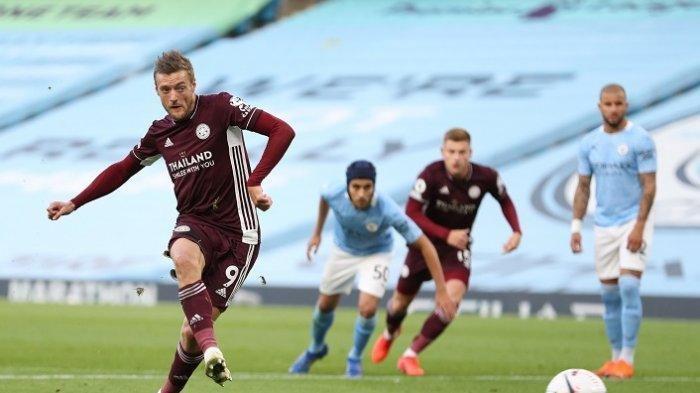 Hattrick Jamie Vardy dan 3 Penalti Hancurkan Manchester City di Kandang
