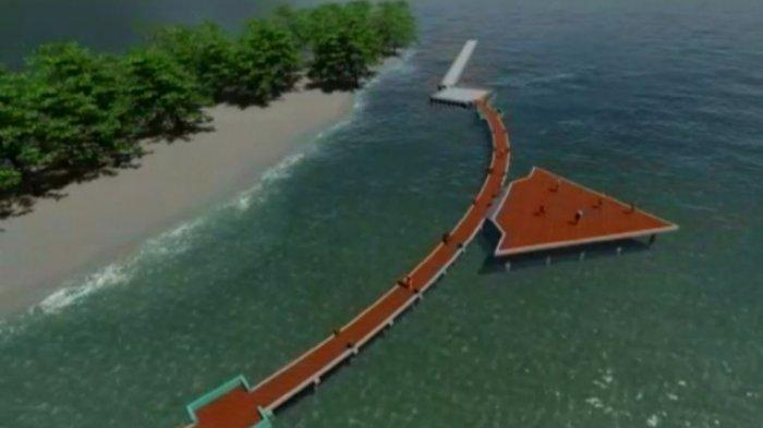 Jembatan Panah Asmara Dibangun di Pulau Tidung