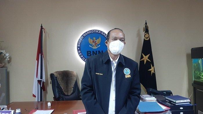 Deputi Pemberantasan Badan Narkotika Nasional (BNN) Arman Depri saat ditemui di Kantor BNN, Kramat Jati, Jakarta Timur, Senin (22/3/2021)