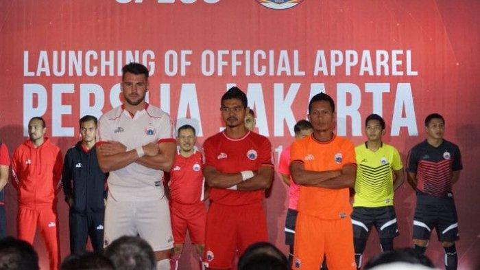 Jersey Utama Persija di Liga 1 2019, Berwarna Merah dan Banyak Dihiasi Sponsor