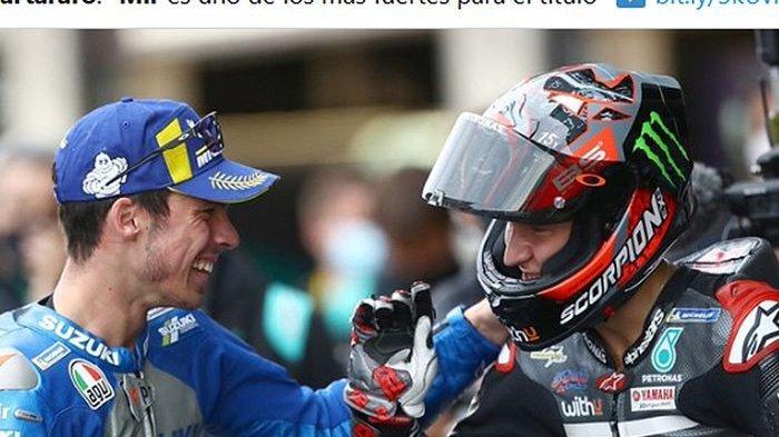 Perburuan Gelar Juara MotoGP 2021 Semakin Memanas, Joan Mir Berambisi Susul Fabio Quartararo