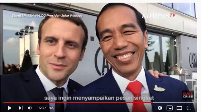Dulu Pernah Nge-vlog Bareng, Jokowi Kini Kecam Presiden Perancis Terkait Kontroversi Kartun Nabi