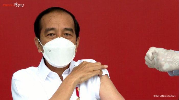 Berikut Link Live Streaming Pelantikan Kapolri dan Vaksinasi Tahap II Presiden Jokowi