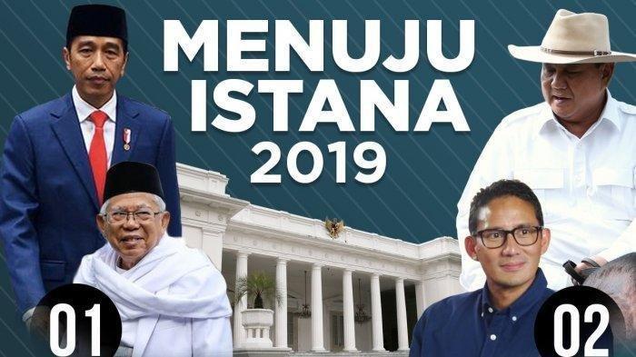Real Count KPU Pilpres 2019 Pukul 13.51 WIB 19 April: Jokowi 55,14% Prabowo 44,86% Data Masuk 2.06%