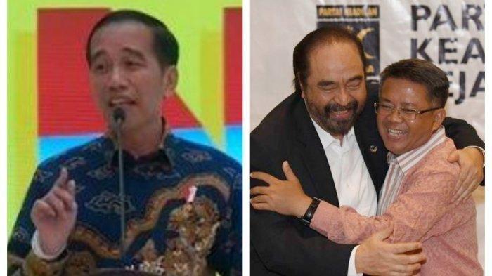 Presiden Jokowi Singgung Rangkulan Surya Paloh dan Sohibul Iman, PSI: Sindiran, PDIP: Itu Guyonan