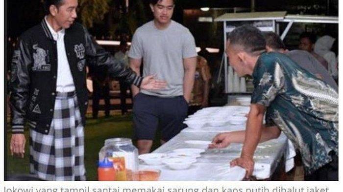 Saat Traktir Paspampres Sate di Malam Tahun Baru Jokowi Pilih Kenakan Sarung, Terungkap Filosofinya