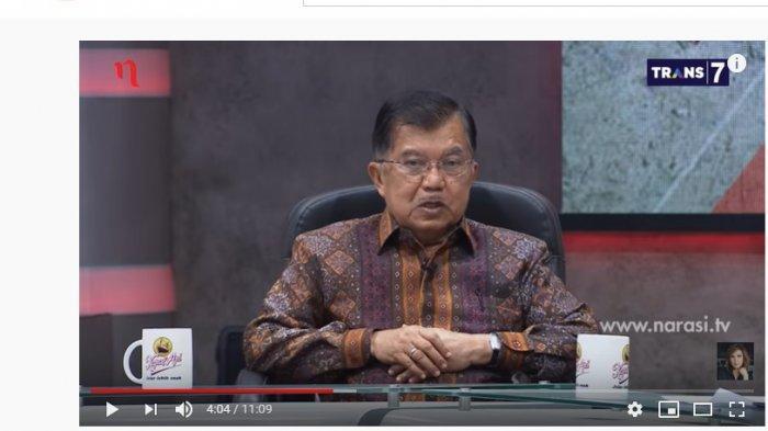 Ditanya Soal Oposisi, JK Tak Jawab Secara Gamblang, Najwa Shihab Tertawa