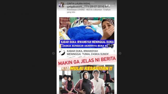 Kabar Irwansyah meninggal dunia langsung ditanggapi suami Zaskia Sungkar di akun instagramnya.