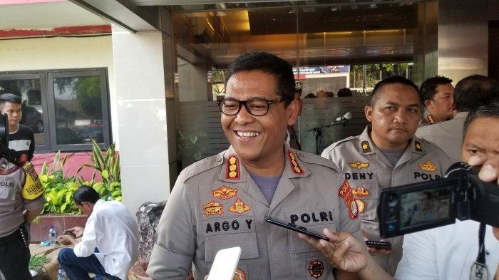 Kabid Humas Polda Metro Jaya, Kombes Pol Raden Prabowo Argo Yuwono di Mapolres Metro Tangerang Kota, Senin (10/6/2019).