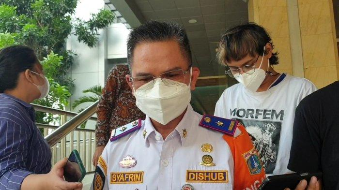 Kepala Dinas Perhubungan Syafrin Liputo saat ditemui di Balai Kota Jakarta, Kamis (22/4/2021).
